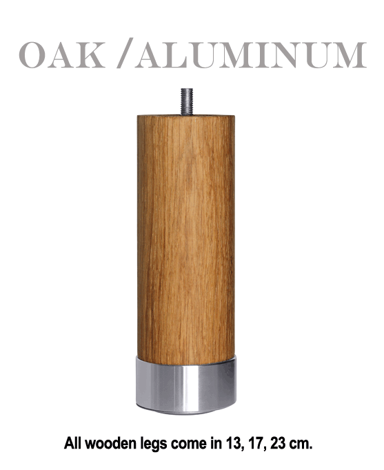 Oak / Aluminum an Exclusive Carpe Diem Beds of Sweden Bed Leg.